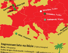 Imprezowa mapa świata 2011