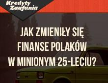 Finanse Polaków w minionym 25-leciu – infografika